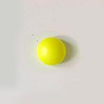 *Mallikappale* Helmi, Swarovski, neon keltainen, 6mm, puoliväliin porattu, tasainen tausta, 1 kpl