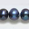 *Erä* Helmiä, aito, erittäin kaunis makeanveden helmi, kuvassa #Q-07, riikinkukon väri, ovaali/pyöreä noin 10mm, nauha 40cm, OVH  11.95