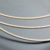 Hopealanka 925, *Puolihelmi*, paksuus noin 2mm, 10cm