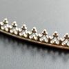 *Poistomyynti -huom mitta* Hopeanauha *Kruunu C* -kruunun kohdalla leveys noin 4.5mm, paksuus noin 0.8mm, hopea 925,5.5cm, 17 väkästä