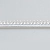 *poistomyynti -huom 3 pätkää* Hopeanauha 925 *Kruunu D*, leveys noin 3mm, paksuus noin 0.7mm, 4.5+2.6+1.0cm (yhteensä 8.1cm)