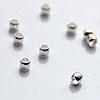 Helmi, hopeoitu, kiinnityshelmi, (puristushelmi) 2x1.5mm, 100 kpl