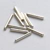 *Mallikappale-Poistoale* Helmi, hopeoitua messinkiä, putki, pituus noin 7mm (huom: pieni reikä), kuvassa #315, 25 kpl