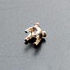 *Tarjous* Kruunuistukka, hopea 980, pyöreälle kivelle, 4mm, 4 haaraketta, haarakkeissa kolot, 1 kpl