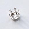 Istukka, hopea 925, pyöreälle kivelle, 8mm, 6 joustavaa haarakketta (napsusysteemi), 1 kpl