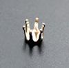 Istukka, hopea 925, pyöreälle kivelle, 4mm, 6 joustavaa haarakketta (napsusysteemi), 1 kpl