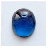 Spinelli, Sininen (Blue), synteettinen, tasainen tausta, soikea, 12x10mm, 1 kpl