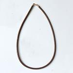 *Siivousmyynti -mallikappale* Kaulaketju, nahkaa, paksuus 4mm, ruskea (värjätty), lukko-osat hopea925, pituus 45cm