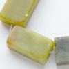 *Poistomyynti*  Kaunis jaden värinen kivihelmi, Serpentiini, noin 15x8mm-17x12mm, 12kpl (noin 20cm)