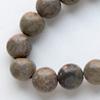 *Kivi Special* Kaunis kivihelmi, Jaspis, ruskea leopardi, 6mm, noin 40cm nauha, noin 60 helmeä