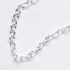 Ketju, pyöreät lenkit, hopeoitua messinkiä, paksuus noin 2mm, pituus säädettävä: noin 47-50cm, papukaijalukko