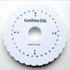 Kiekko lankatöiden tekemiseen, ns. kumihimo -kiekko, ympyrä, 11cm (myös ohuille metallilangoille)