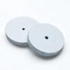 Kiillotuslaikka kaikille metalleille, hohkakivipitoinen silikoni, hienokarkea (valkoinen), reuna suorakulmainen, 22mm, 2kpl (ilman vartta)