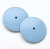 Kiillotuslaikka kaikille metalleille, hohkakivipitoinen silikoni, superhieno (sininen), reuna kiilamainen, 22mm, 2kpl (ilman vartta)