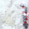 *Mallikappale-Poistoale* Kimaltelevia koristeita, kuvassa #B-301, esim. hartsikorun koristeeksi, kuin kuvassa