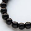 *Kivihelmi, Musta Obsidiaani, luonon väri, pyöreä, 5-6mm, 32cm pitkä nauha, noin 75 helmeä