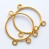 *Mallikappale-Poistoale* Koristeosa (esim. korvakorut), kuvassa #606, kullattua messinkiä, lanka, voit lisätä esim. helmiä, ympyrä, 2 kpl