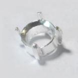 Istukka, pyöreälle kivelle 6mm, hopea 925