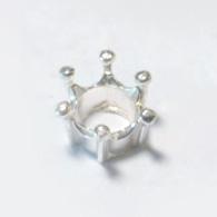 *Uutuus* Design istukka, pyöreälle kivelle 6mm, pisaramaiset pidikkeet, hopea 925