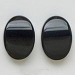 *Kapussi Mix* 'Musta Akaatti' kuin kuvassa #408, Väri musta/tumman ruskea (värjätty) 2kpl, koko noin 14x10mm, erityishionta, yläpinta tasainen, päät ohuemmat, pakssus noin3-5mm
