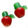 *Mallikappale-Poistoale* Lamppuhelmi, lasi, Omena, kuvassa #B-102, noin 17x11mm, 2 kpl