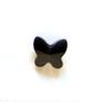 *Mallikappale* Helmi, Swarovski Crystal, perhonen, musta, 8x7mm, 5 kpl