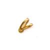 *Mallikappale-Poistoale* Riipuslenkki, kuvassa #921, kullattua messinkiä, riipuksen tekemiseen, noin 8mm, liimauspaikan koko noin 3mm (Huom: Pieni), saattaa olla jälkiä ajan kulumasta, 32 kpl
