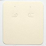 Korvakoruille kortti, kartonkia, luonnonvalkoinen, koko 7.5x7cm (KxL), 10 kpl