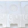 *Poistoale* Tarra tuotteiden ripustamiseen, kätevä esim. korvakorukorttille, kirkasta muovia, noin 40X20mm, 15 kpl
