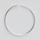 *Uutuustarjous* Korvakoukku, Sterling hopea 925, rengas 19mm, huom. lukitusta varten taivuta pää pyöröpihdeillä, 1 pari