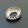 *Erä*Istukka, hopea 925, soikea, 16x12mm, koristeellinen *kruunu*