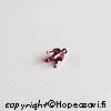 Kruunuistukka, kupari, pyöreälle kivelle, 3mm, 4 haaraketta, istutettavissa kuparisaveen, 5 kpl