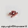 Kruunuistukka, kupari, pyöreälle kivelle, 5mm, 4 haaraketta, istutettavissa kuparisaveen, TUKKUPAKKAUS 20 kpl