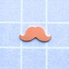 Kupari, muotopala, Viikset, pieni 12mm, paksuus 0.5mm, emalointiin tai korun osaksi, 3 kpl