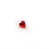 Kuutiollinen Zirkonia, Garnetti, sydämen muotoinen, 3x3 mm, 2 kpl