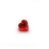 Kuutiollinen Zirkonia, Garnetti, sydämen muotoinen, 5x5 mm, 2 kpl