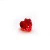 Kuutiollinen Zirkonia, Garnetti, sydämen muotoinen, 7x7 mm, 1 kpl