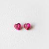 Synteettinen Rubiini, Tumma pinkki, Sydämen muotoinen, 3x3mm, 2 kpl