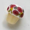 *Poistomyynti* ´designerhelmiä, KUVAN #L3, muffinssi, lamppuhelmi, noin 17x15mm, 1 kpl
