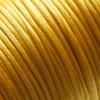 Lanka, satiinia, Kulta, 1mm, TUKKUPAKKAUS noin 50m rulla, helmitöihin, kumihimoketjuihin jne.