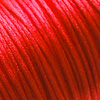 Lanka, satiinia, Punainen (kirkas), 1mm, TUKKUPAKKAUS noin 50m rulla, helmitöihin, kumihimoketjuihin jne.