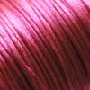 Lanka, satiinia, Ruusun punainen (tumma), 1mm, TUKKUPAKKAUS noin 50m rulla, helmitöihin, kumihimoketjuihin jne.