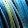 *Poistomyynti -huom mitta* Lanka, satiinia, Sininen-vihreä -sävy, 2mm, 4m, solmutöihin, helmitöihin, kumihimoketjuihin jne.