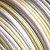 *Uutuus* Lanka, satiinia, Keltainen-Harmaa-Valkoinen -sävytetty 1mm, 4m, helmitöihin, kumihimoketjuihin jne.