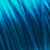 *Muuttoale* Lanka, satiinia, Turkoosin sininen, 1mm, 4m (1x4m pussi), helmitöihin, kumihimoketjuihin jne.