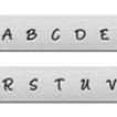 *Uutuus* Leimasin, punsselisetti, 'Bridgette´ ISOT kirjaimet, aakkoset a-z ja & -merkki, 27 kpl, leveys 3.0mm