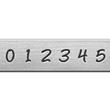 *Uutuus* Leimasin, punsselisetti, 'Bridgette´ numerot 0-8 (6=9), leveys 3.0mm