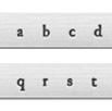 *Uutuus* Leimasin, punsselisetti, 'Newsprint´ PIENET kirjaimet, aakkoset a-z ja ? -merkki, 27 kpl, leveys 3mm