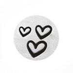 Leimasin, punsselisetti *SYDÄN 3 KOKOA* laadukasta karkaistua terästä, koot: 1.5, 2.0 ja 3.0 mm, pituus noin 6.5cm