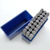 *Uusi* Leimasin, punsselisetti, ´tyylitellyt´ kirjaimet, aakkoset a-z ja & merkki, 27 kpl, leveys 3mm